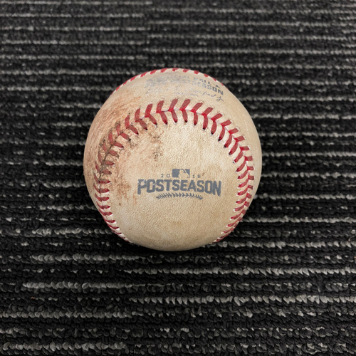 Photo of 2016 Postseason Game Used Baseball - NLDS Game 4 vs. Chicago Cubs - Matt Moore to Anthony Rizzo - Foul Ball