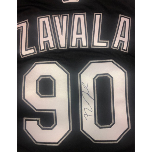 Photo of Seby Zavala Autographed Black Alternate Jersey - Size 44