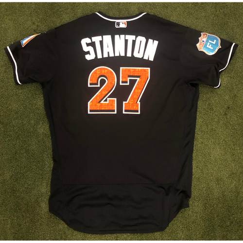 Photo of Game Used: Giancarlo Stanton 2016 Spring Training Jersey
