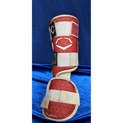 Photo of Mike Trout 2018 Team-Issued Shin Guard