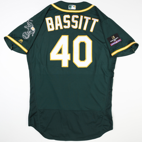Photo of 2019 Japan Opening Day Series - Game Used Jersey - Chris Bassitt, Oakland Athletics at Nippon Ham Fighters -3/17/2019