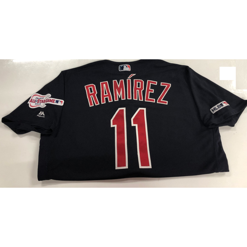 Photo of Jose Ramirez Game Used 2019 Opening Day Jersey 3/28/19