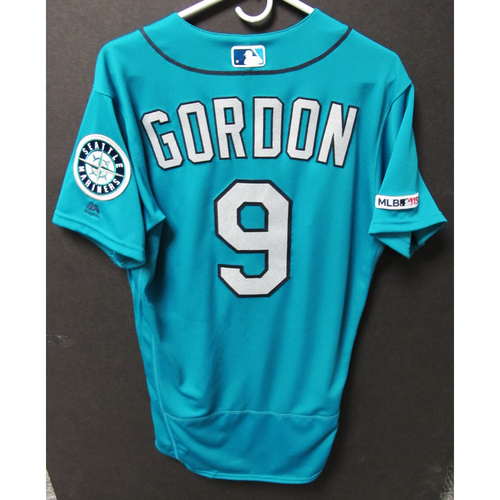 Photo of Seattle Mariners Dee Gordon Game-Used Green Jersey - Twins vs. Mariners - 5/17/19
