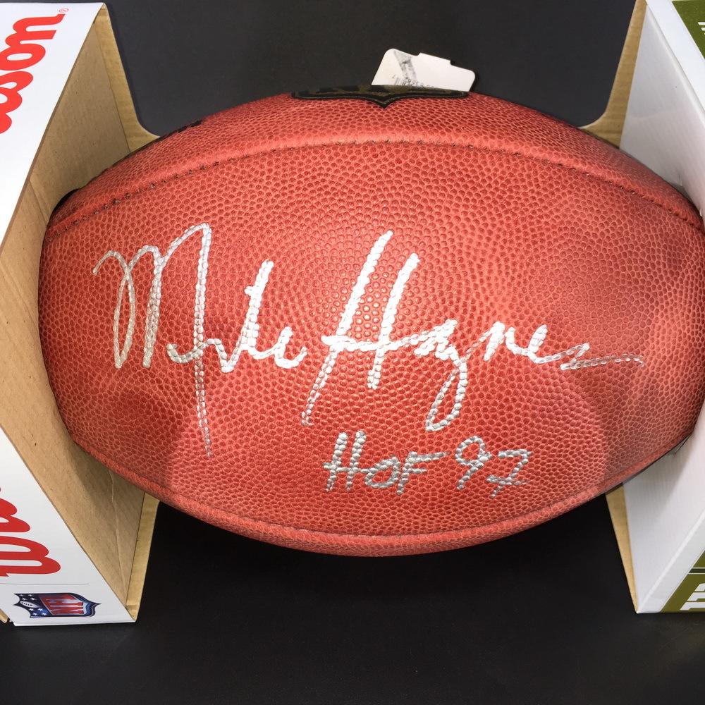 HOF - Raiders Mike Haynes Signed Authentic Football