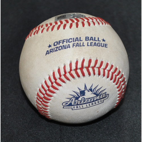 Photo of Game-Used Baseball: 2019 Arizona Fall League - Pitcher: Glenn Otto (NYY), Batter: Heliot Ramos (SFG) - Walk - Bot 1 - 10/11/2019