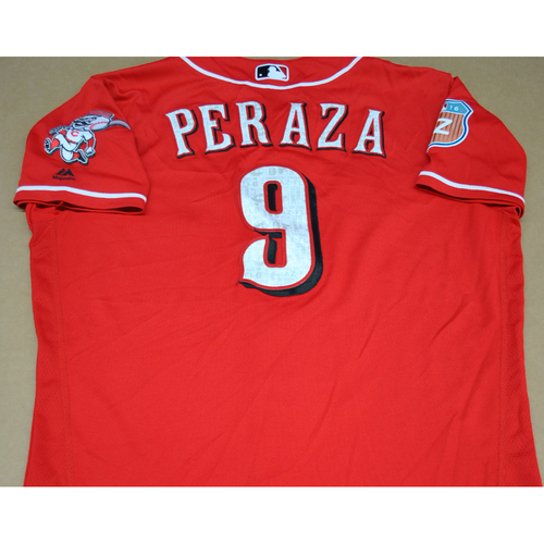 Photo of Game-Used 2016 Spring Training Jersey - Jose Peraza - Size 46 - Cincinnati Reds