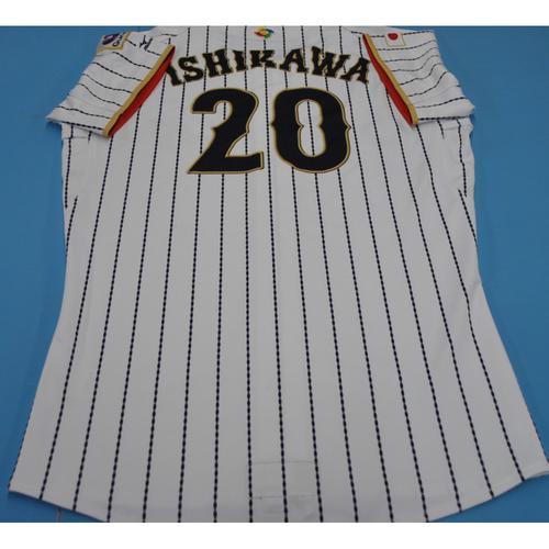 Photo of 2017 World Baseball Classic Game-Used Jersey - Ayumu Ishikawa - Japan (Size XL)