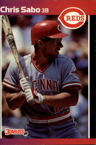 Photo of 1989 Donruss #317 Chris Sabo RC