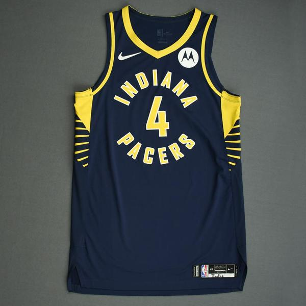 Image of Victor Oladipo - Indiana Pacers - Game-Issued Icon Edition Jersey - NBA India Games - 2019-20 NBA Season
