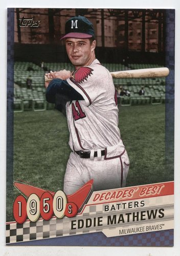 Photo of 2020 Topps Decades' Best Blue #DB12 Eddie Mathews