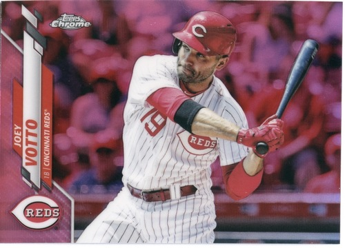 Photo of 2020 Topps Chrome Pink Refractors #9 Joey Votto