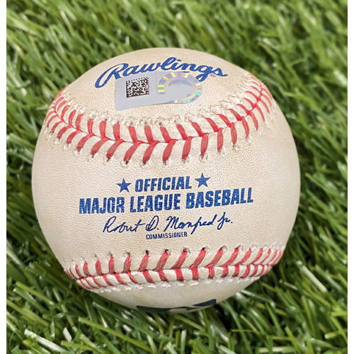 Photo of Game-Used Baseball: Max Scherzer Strikes Out Marcell Ozuna - 9/13/20
