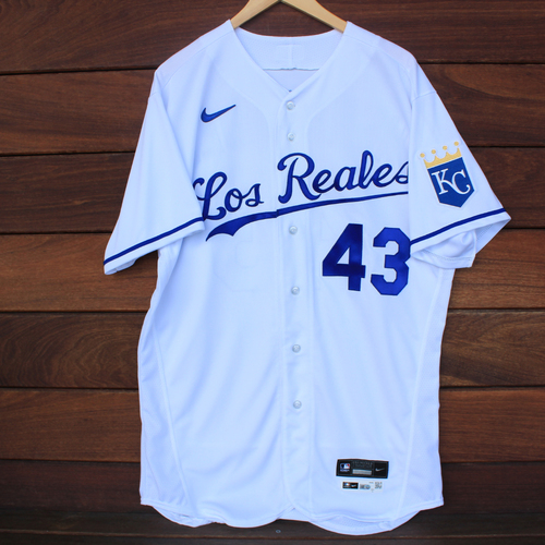 Photo of Game-Used Los Reales Jersey: Carlos Hernandez #43 (SEA@KC 9/17/21) - Size 46