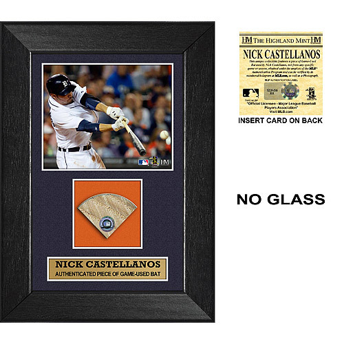 Photo of Detroit Tigers Nick Castellanos Game Used Bat Swatch Plaque