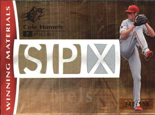 Photo of 2008 SPx Winning Materials SPx Die Cut 150 #HA Cole Hamels