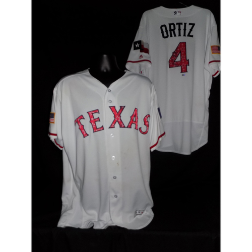 Hector Ortiz 2017 Game-Used Stars and Stripes Jersey