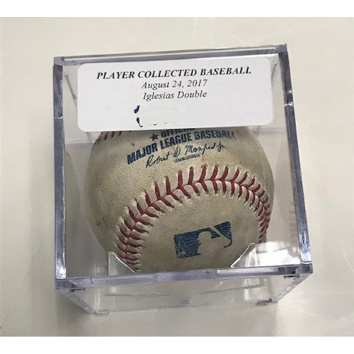 Photo of Player Collected Baseball: Jose Iglesias Double