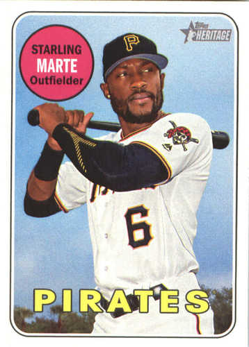 Photo of 2018 Topps Heritage #185 Starling Marte