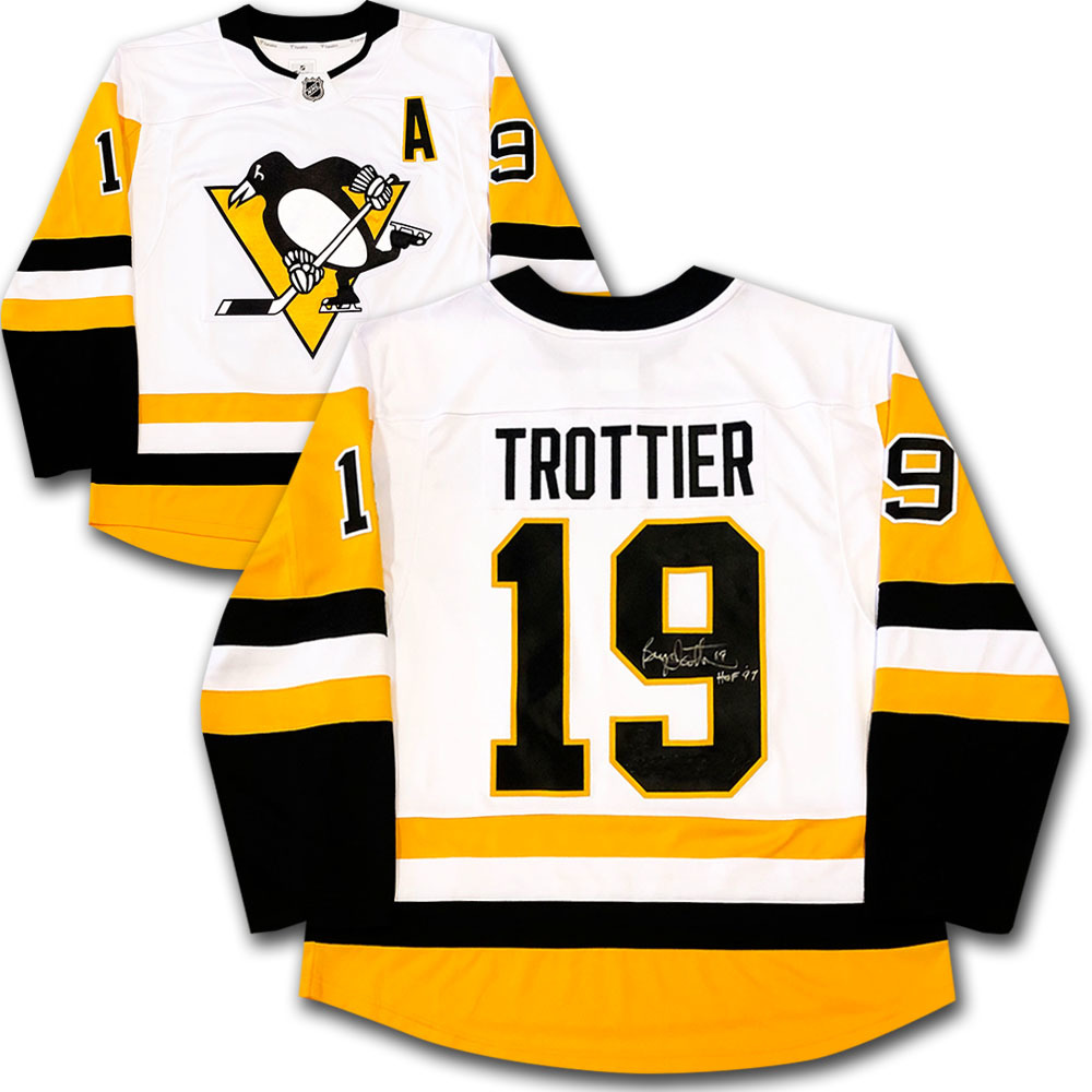 Bryan Trottier Autographed Pittsburgh Penguins Jersey