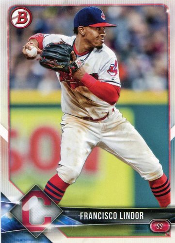 Photo of 2018 Bowman #40 Francisco Lindor