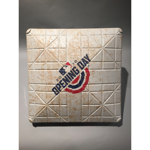 Photo of 2018 Washington Nationals Opening Day Base - 3rd Base used 7th-9th innings
