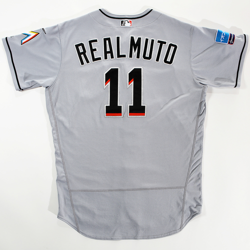 Photo of 2018 Japan Series Game-Used Jersey - J.T. Realmuto - Size 48