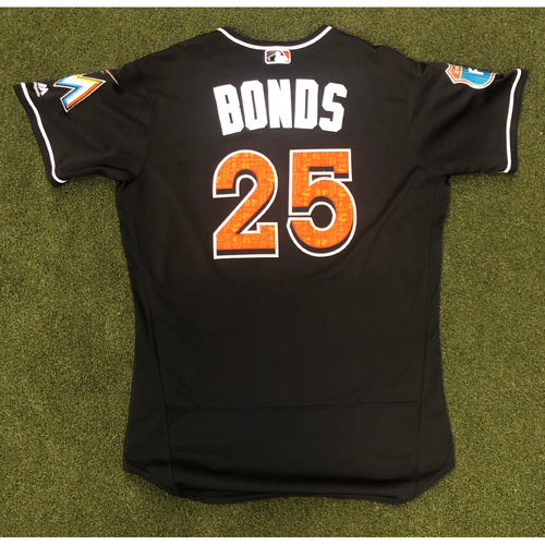Photo of Game Used: Barry Bonds 2016 Spring Training Jersey