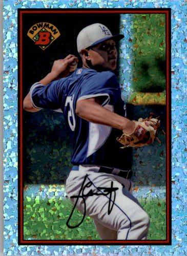 Photo of 2014 Bowman '89 Bowman is Back Silver Diamond Refractors #89BIBJU Julio Urias BD