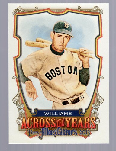 Photo of 2013 Topps Allen and Ginter Across the Years #TW Ted Williams