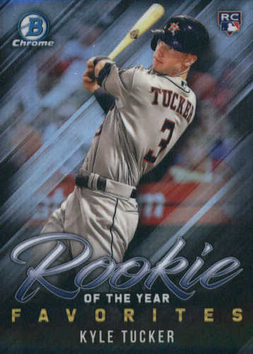 Photo of 2019 Bowman Chrome Rookie of the Year Favorites #ROYF1 Kyle Tucker