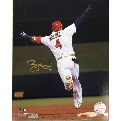 Photo of Cardinals Authentics: St. Louis Cardinals Yadier Molina Walk-Off Autographed Photo
