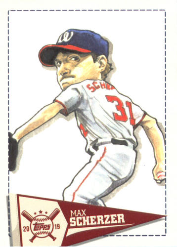 Photo of 2019 Topps Big League Star Caricature Reproductions #SCRMS Max Scherzer