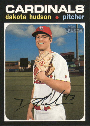 Photo of 2020 Topps Heritage #229 Dakota Hudson