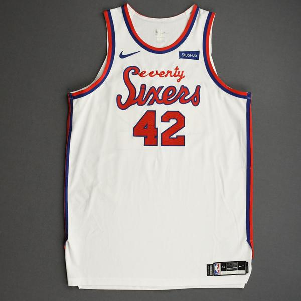 Image of Al Horford - Philadelphia 76ers - Game-Worn Classic Edition 1970-71 Home Jersey - 2019-20 Season