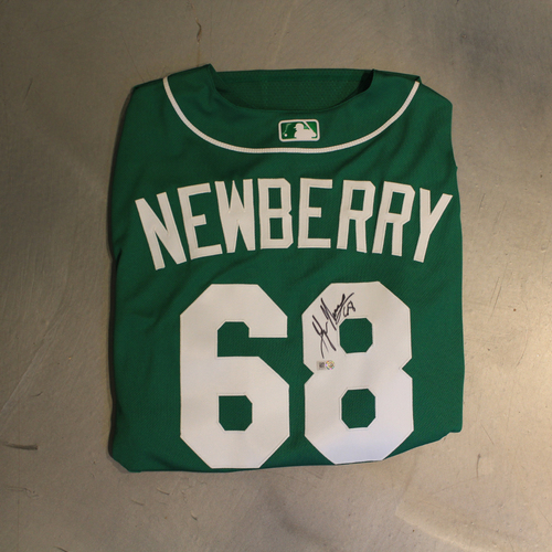 Photo of Autographed 2020 St. Patrick's Day Jersey: Jake Newberry #68 (Size 48)