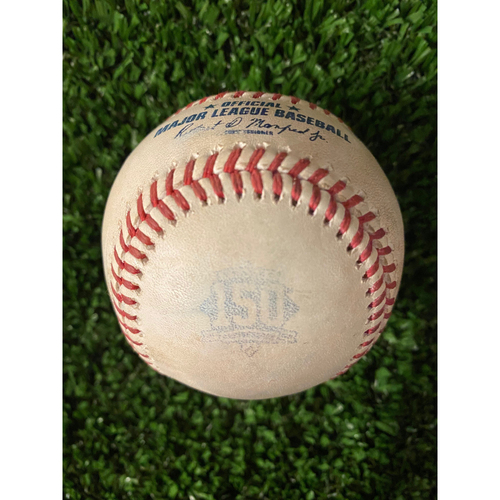 Photo of Charlie Morton Game Used Hit Single Ball - Home Opener, 4/9/21, Bottom 5