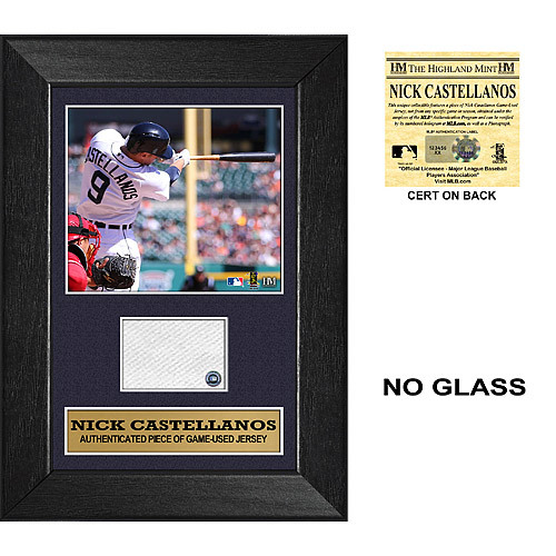 Photo of Detroit Tigers Nick Castellanos Mini Plaque with Game Used Jersey Swatch