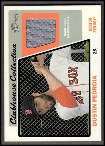 Photo of 2015 Topps Heritage Clubhouse Collection Relics #CCRDP Dustin Pedroia