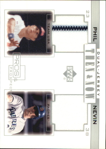 Photo of 2001 Upper Deck Pros and Prospects Then and Now Game Jersey #TNPN Phil Nevin