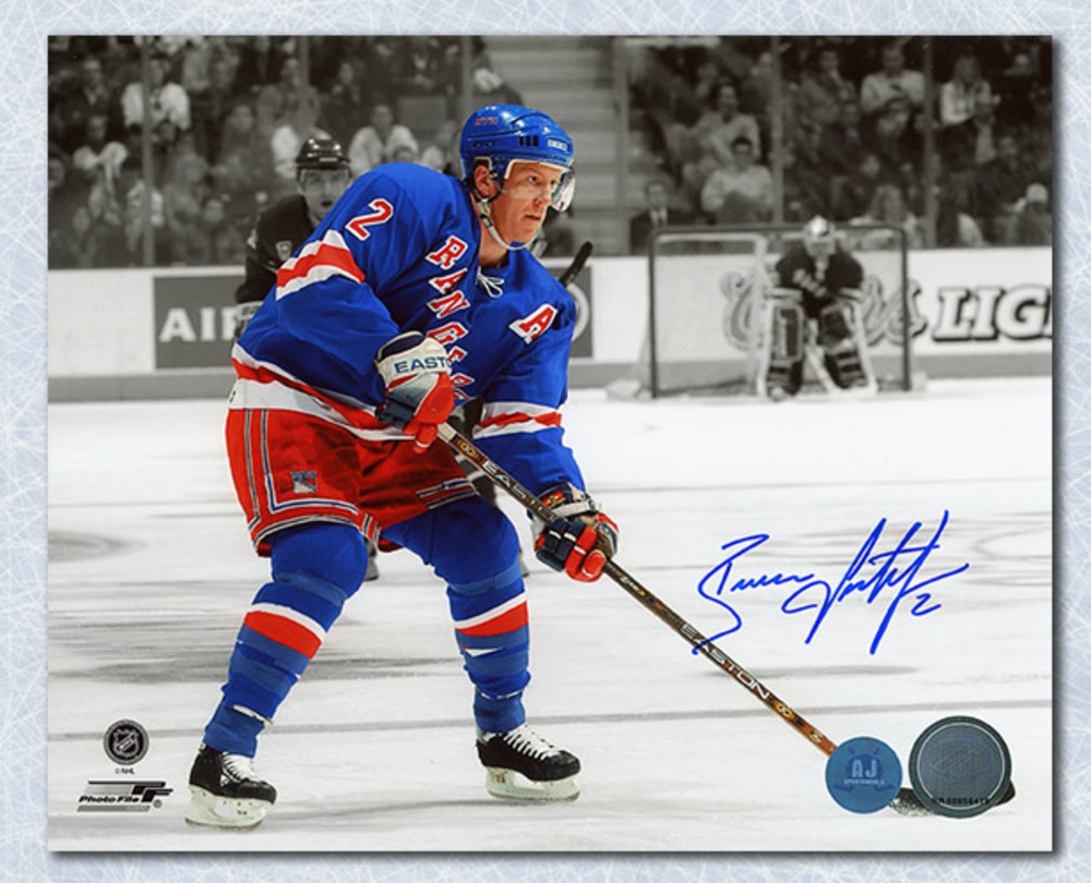 Brian Leetch New York Rangers Autographed Spotlight 16x20 Photo