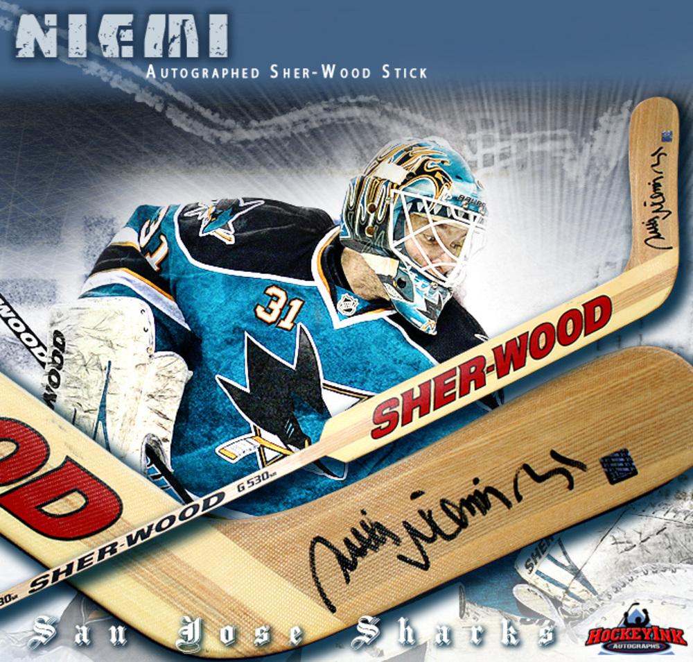 ANTTI NIEMI Signed Sher-Wood Goalie Stick - San Jose Sharks - Wood