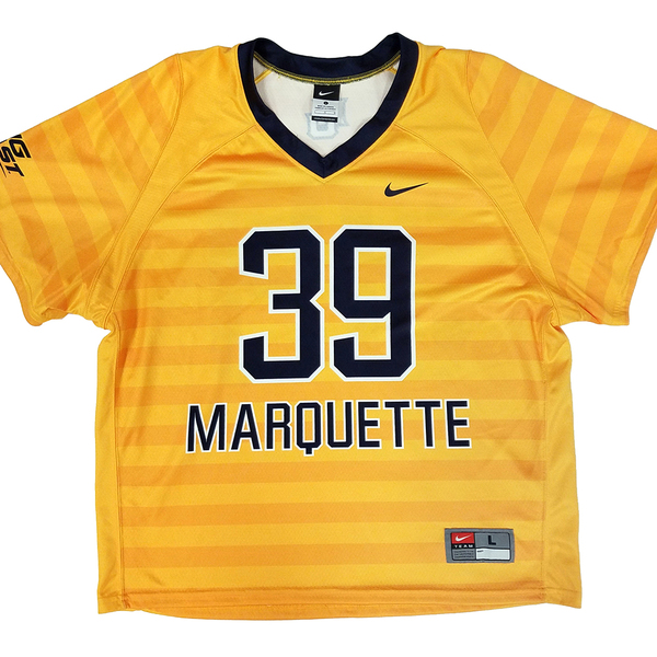 Photo of Marquette No. 39 Gold Lacrosse Jersey