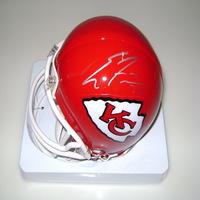 CHIEFS - ERIC FISHER SIGNED CHIEFS MINI HELMET