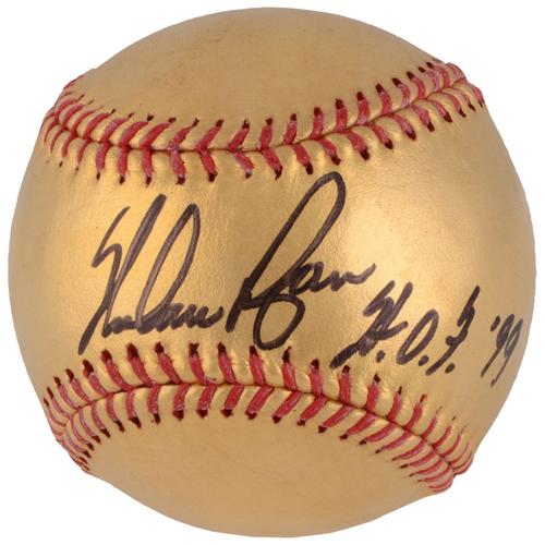 Nolan Ryan Texas Rangers Autographed 24 Karat Gold Baseball with HOF 99 Inscription