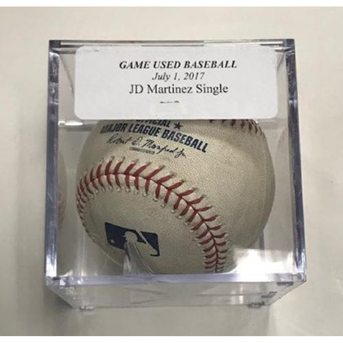 Photo of Game-Used Baseball: JD Martinez Single-Reaches on Error