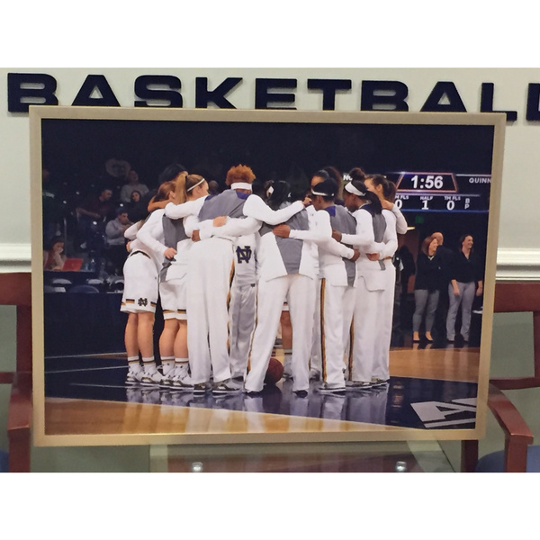 Photo of Notre Dame Women's Basketball 2014-2015 Framed Game Day Huddle Team Picture
