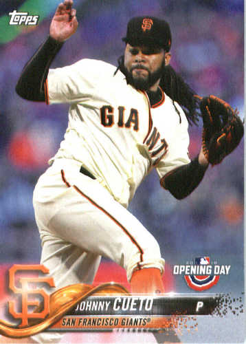 Photo of 2018 Topps Opening Day #88 Johnny Cueto