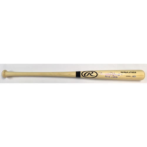 "Photo of Brooks Robinson Autographed ""HOF 1983"" Blonde Rawlings Bat"