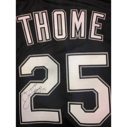 Photo of Jim Thome Autographed Black Alternate Jersey - Size 52