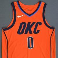 Russell Westbrook - Oklahoma City Thunder - Game-Worn 1st Half Earned Statement Edition Jersey - 2018-19 Season